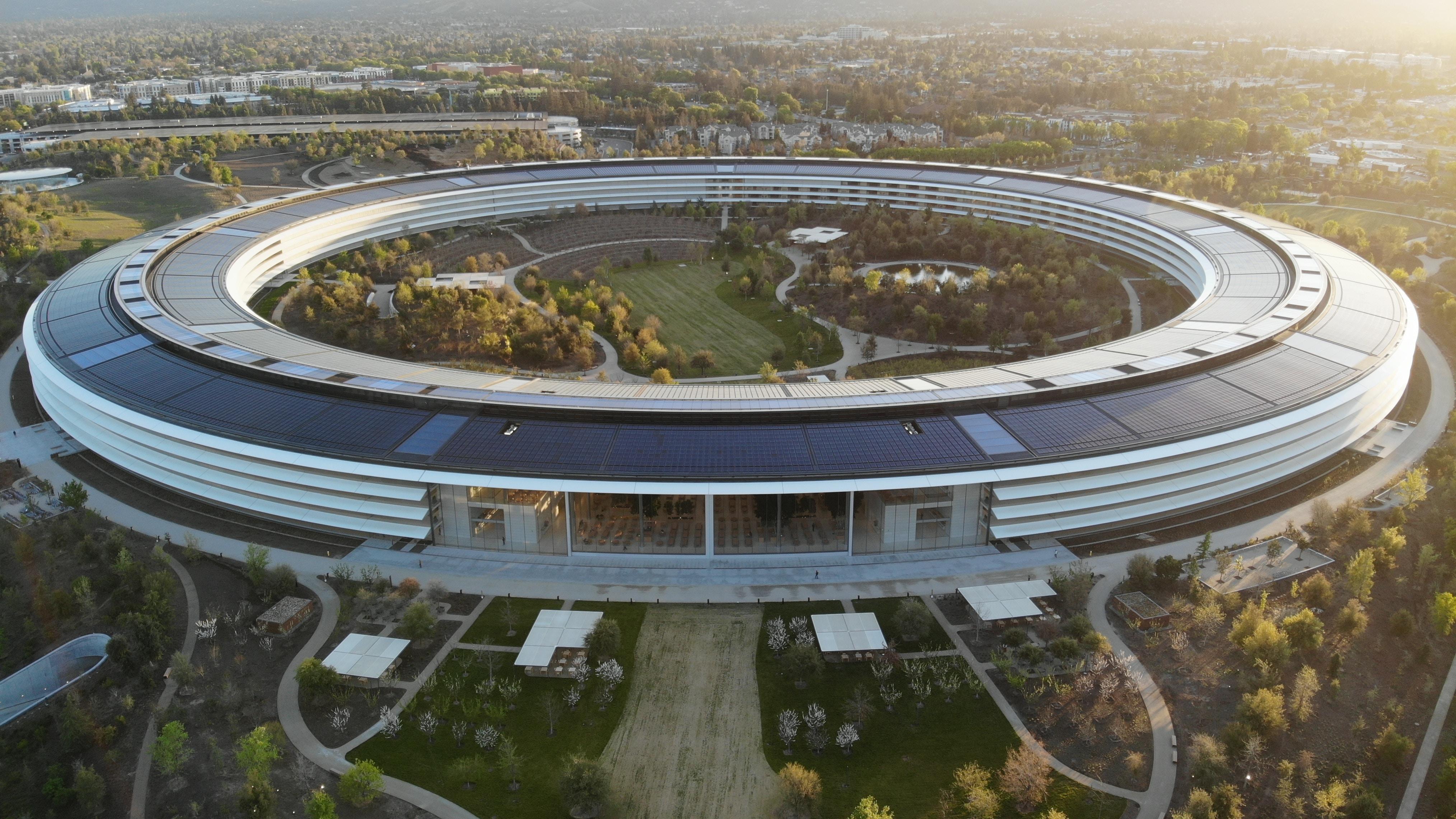 美国苹果公司总部图片欣赏。